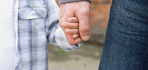 Child & Parent Holdings Hands, Family Law in Fairfield CT